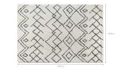 dimension of Aziza Rug