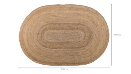dimension of Marc Jute Oval Rug