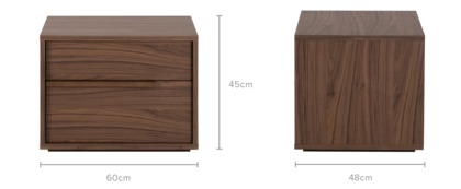 dimension of Joseph Bedside Table