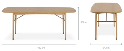 dimension of Chelsea Dining Table
