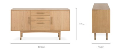 dimension of Chelsea Sideboard, 160cm