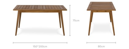 dimension of Roy Extendable Dining Table