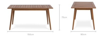 dimension of Roy Dining Table