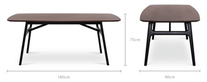 dimension of Joshua Dining Table