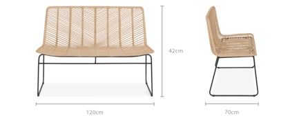 dimension of Hagen Bench
