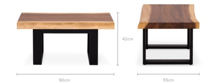 dimension of Alba Coffee Table