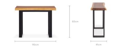 dimension of Alba Console Table