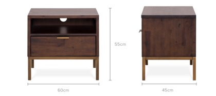 dimension of Chadstone Bedside Table