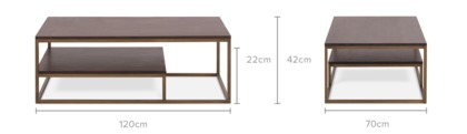 dimension of Chadstone Coffee Table, 120cm