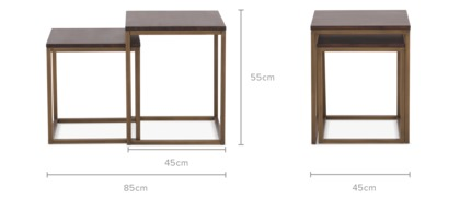 dimension of Chadstone Nesting Side Table