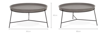 dimension of Enfield Round Coffee Table