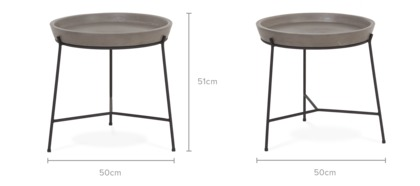 dimension of Enfield Round Side Table