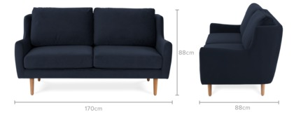 dimension of Delphine 2 Seater Sofa