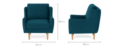 dimension of Delphine Armchair