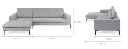 dimension of Hugh Sofa Sectional