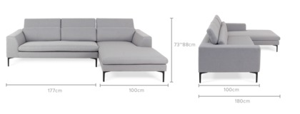 dimension of Hugh Sofa Sectional