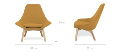 dimension of Gable High Armchair