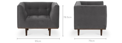 dimension of Jeanne Armchair