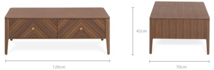 dimension of Charlie Coffee Table
