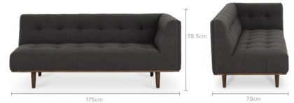 dimension of Jeanne Right Facing 2 Seater Sofa