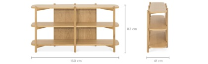 dimension of Bambu Low Shelf