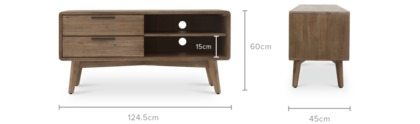 dimension of Seb TV Stand, 125cm