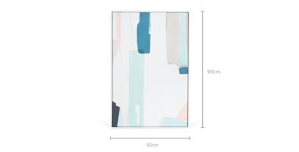 dimension of Larson Framed Canvas