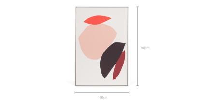 dimension of Galia Framed Canvas