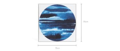 dimension of Blue Mist Framed Canvas