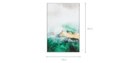 dimension of Tempest Framed Canvas