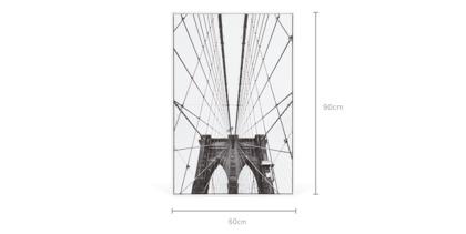 dimension of Brooklyn Framed Canvas
