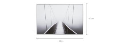 dimension of Haze Framed Canvas