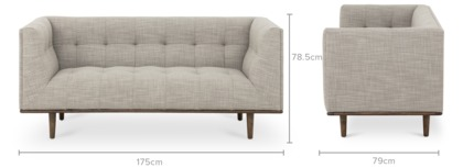 dimension of Jeanne 2 Seater Sofa