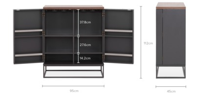 dimension of Alfred Bar Cabinet