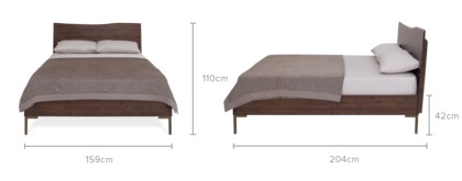 dimension of Chadstone Bed with 2 Chadstone Bedside Tables