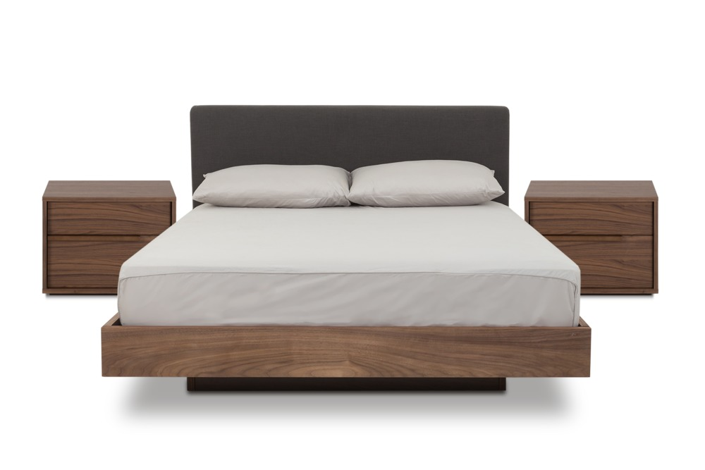 Joseph Bed With 2 Joseph Bedside Tables Queen Stone Grey
