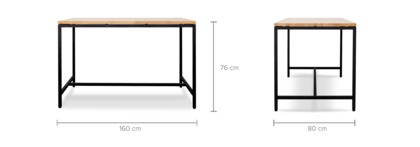 dimension of Albert Dining Table