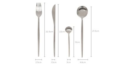 dimension of Tobe 16-Piece Cutlery Set