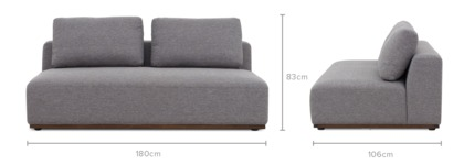 dimension of Warren 2 Seater Sofa