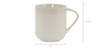 dimension of Sand 4-Piece Mug Set