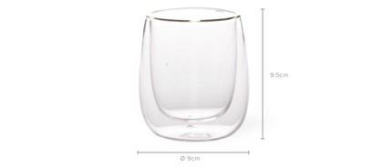 dimension of Valia 4-Piece Double Wall 200ml Glass Set