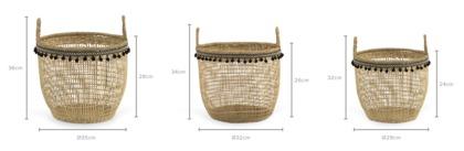 dimension of Leila Basket, Set of 3