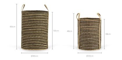 dimension of Aden Basket, Set of 2