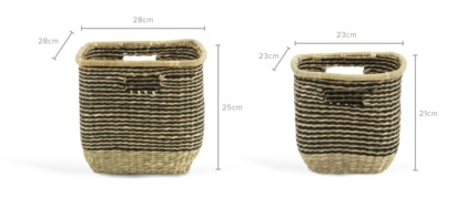 dimension of Tara Basket, Set of 2