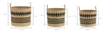 dimension of Cancun Basket, Set of 3