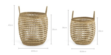 dimension of Celina Basket, Set of 2