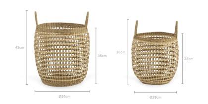 dimension of Celina Basket, Set of 2