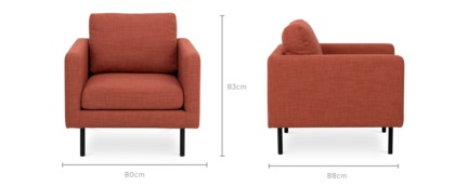 dimension of Nash Armchair