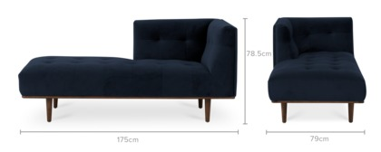 dimension of Jeanne Left Chaise
