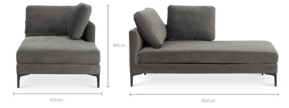 dimension of Adams Right Chaise